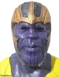 Máscara Em Látex Para Cosplay / Teatro - Thanos - Vingadores - Nova, sem qualquer uso!