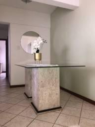 Oportunidade ! Mesa de vidro com mármore bege bahia