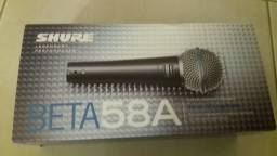 Microfone Shure Beta 58A - Novo na cx.