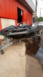 Título do anúncio: Lancha Bass Boat 5 metro Motor Evinrud 175