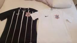 Camisas corinthians oficiais, 2017 e 2018.