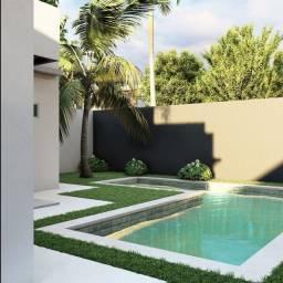 Linda casa com acabamento de primeira, piscina e espaço gourmet!!
