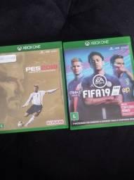 Título do anúncio: Vendo PES 19 e FIFA 19
