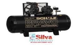 Compressor de ar 15 pés 200 litros 140 lbrs Schulz