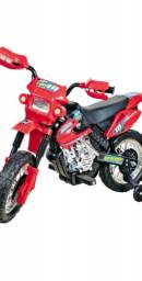 Moto elétrica motocross vermelha- homeplay