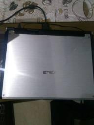 Notebook Asus gamer G2s 17 polegadas com defeito na tela + bolsa de transporte TARGUS.
