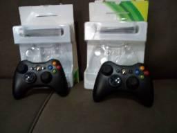 2 controles Xbox 360 original Microsoft novo na caixa