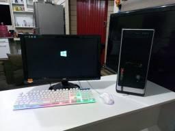"""PC completo 650 GB/tela grande 22""""AOC/teclado e mouse gamer"""