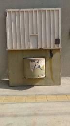 Porta para distribuidora ou depósito de gás mercearia