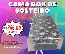 Cama Box de Solteiro Confort Black