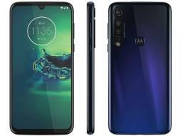 Título do anúncio: Motorola Moto G8 Plus 64GB Azul Safira novinho