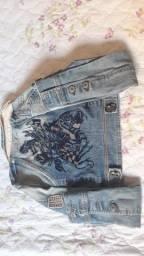 Vendo jaqueta jeans tam pp 34/36usada