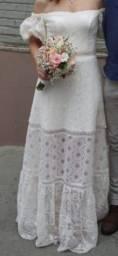 Título do anúncio: Vestido de casamento civíl