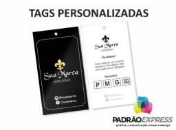 Título do anúncio: Tags personalizadas retangular, olval ou redondas com 5x5 centímetros.