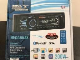 Som Marinizado Bluetooth Mp3 Boss Marine Mr1308uabk Barco