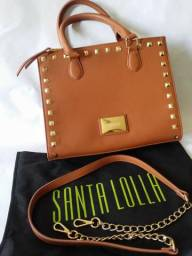 d022d8ee9259c Bolsa Santa Lolla caramelo de mão com alça - linda! Original