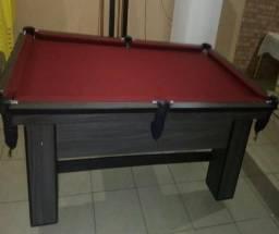 Mesa com 4 Pés Cor Dakar Tecido Vermelha Mod. MJBI1907