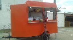 Food truck treille lanchonete móvel