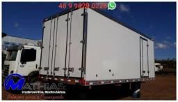 Baú caminhão toco refrigerado 6,50m Mathias Implementos