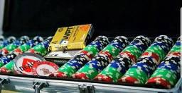 Maleta de fichas poker, fichas poker, fichário poker