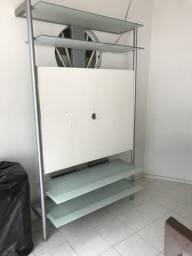 Vendo Rack Seminovo em Aluminio e Vidro
