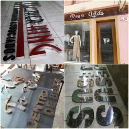 Letras em Aco Inox p Fachadas d lojas e empresas c preço d fabrica 999755123
