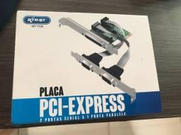PLACA PCI COM 2 PORTAS SERIAL E 1 PARALELA