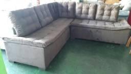 Lindo jogo de sofa de canto medida especial com pillow no assento zerado