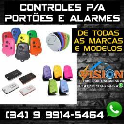 Controles p/a Portões e Alarm