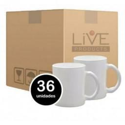Caixa de caneca Livesub  com 36 und  até Sábado