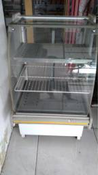 Balcão estufa de salgados