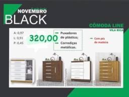 Cômoda 5 gavetas 1 porta promoção imperdível da black