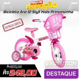 Bicicleta Aro 12 Styll Kids Princesinha - Rosa (entrega grátis)