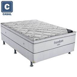 :: Promoçao Cama Box + Colchao Freedom Ortobom Casal 138x188 A Pronta Entrega