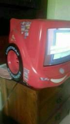 Televisão Carro infantil Disney Mcqueen temática