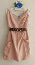 Vestido Feminino Alça Bolsos