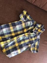 Blusa para menino quadriculada