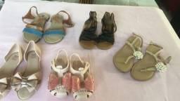 Lote de sapatos chinelos sandálias - numeração 22 ao 34