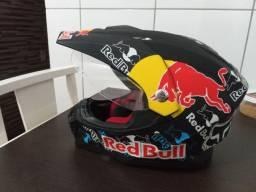 Capacete motocross red bull