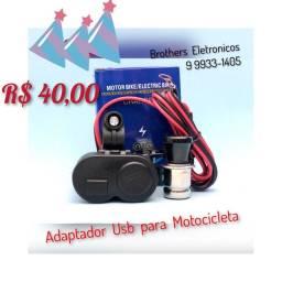 Carregador USB 12v para Moto