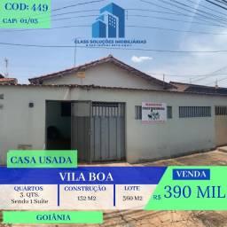 Casa Usada De 3 Quatos - Vila Boa - Goiânia