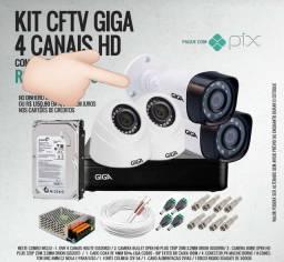 Kit completo 4 câmera instalado aparte $1,399