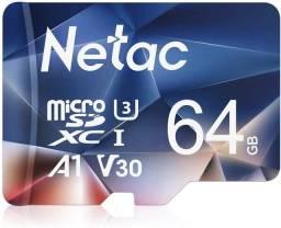 Título do anúncio: Cartão Micro SD 64GB Netac - Cartão de Memória p/ telefone, Tablet, Smarphone, Camera.