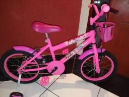 Bicicleta infantil aro 16 das princesas Disney