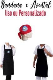 Kit Avental e Bandana personalizados com sua logo