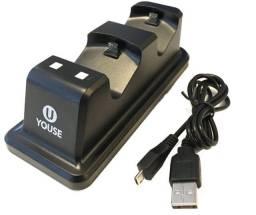 Carregador de controlador duplo Wireless Youse PS4