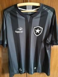 Camisa Botafogo Topper sem número preta Tam. GG