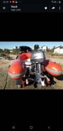 Título do anúncio: Bote inflável e motor Yamaha