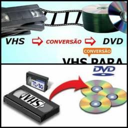 fitas VHS pra DVD