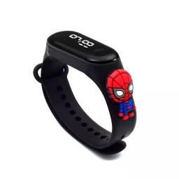 Título do anúncio: Relógio De Led Infantil Homem Aranha Marvel Vingadores